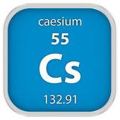 Caesium material sign — Stock Photo
