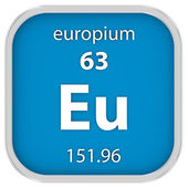 Europium material sign — Stock Photo