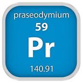 Praseodymium material sign — Stock Photo