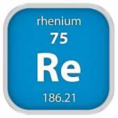 Rhenium material sign — Stock Photo