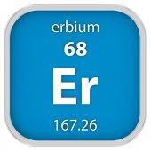 Erbium material sign — Stock Photo