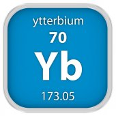 Ytterbium material sign — Stock Photo