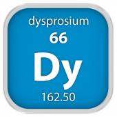 Dysprosium material sign — Stock Photo