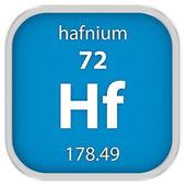 Hafnium material sign — Stock Photo