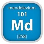 Mendelevium material sign — Stock Photo #74200367