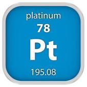 Platinum material sign — Stock Photo