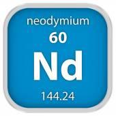 Neodymium material sign — Stock Photo