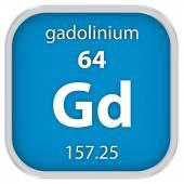 Gadolinium material sign — Stock Photo