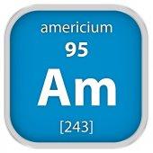 Americium material sign — Stock Photo