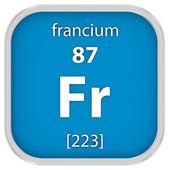 Francium material sign — Stock Photo