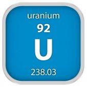 Uranium material sign — Stock Photo