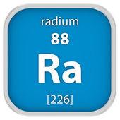 Radium material sign — Stock Photo
