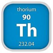 Thorium material sign — Stock Photo