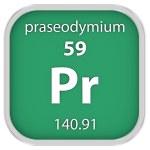 Praseodymium material sign — Stock Photo #74537335