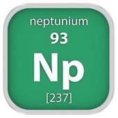 Materiální znak neptunia — Stock fotografie