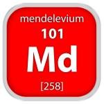 Mendelevium material sign — Stock Photo #74727491