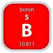 Boron material sign — Stock Photo