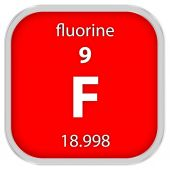 Fluorine material sign — Stock Photo