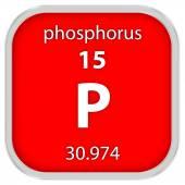 Phosphorus material sign — Stock Photo