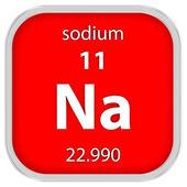Sodium material sign — Stock Photo