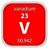 Vanadium material sign — Stock Photo