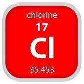 Materiální znak chloru — Stock fotografie