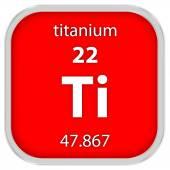 Titanium material sign — Stock Photo
