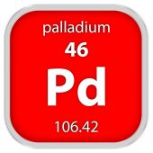 Palladium material sign — Stock Photo