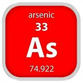 Arsenic material sign — Stock Photo