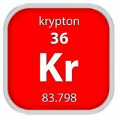 Krypton material sign — Stock Photo
