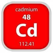 Označení materiálu kadmia — Stock fotografie