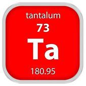 Materiální znak tantal — Stock fotografie