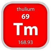 Thulium materiálu znamení — Stock fotografie