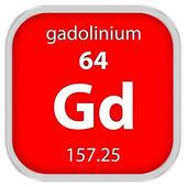 Materiální znak gadolinia — Stock fotografie
