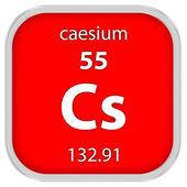 Materiální znak cesium — Stock fotografie