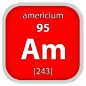 Materiální znak americia — Stock fotografie