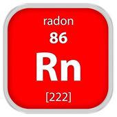 Radon material sign — Stock Photo