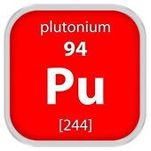 Знак материала плутония — Стоковое фото