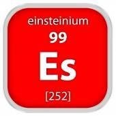 Эйнштейний материала знак — Стоковое фото