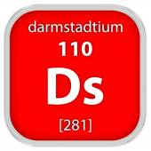 Дармштадтий материала знак — Стоковое фото