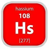Hassium материала знак — Стоковое фото