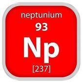 Нептуний материала знак — Стоковое фото