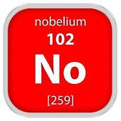 Нобелий материала знак — Стоковое фото