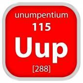Unumpentium материала знак — Стоковое фото