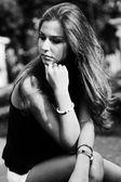 Adolescente triste — Foto de Stock