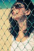 Vážně krásná žena — Stock fotografie