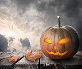 Fierce pumpkin — Stock Photo