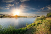River in the evening — Stock Photo