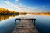Bridge for fishing — Stock Photo
