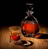 Whiskey on black — Stock Photo